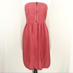 Zara Coral Strapless Cocktail Dress